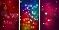 Set Of three Colorful Bokeh backgrounds Royalty Free Stock Photography