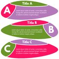 Set of three horizontal colorful options banners. Royalty Free Stock Photo
