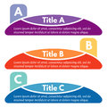 Set of three horizontal colorful options banners.