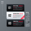 Set of three horizontal web banners on gray background Royalty Free Stock Photo