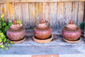 Set of three jars Royalty Free Stock Photo