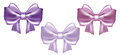 Set of three pastel satin bows wedding collection