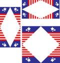 Set of three patriotic borders Royalty Free Stock Photo