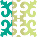 Set three vector seamless pattern contrasting colors Royalty Free Stock Image