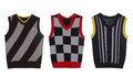 Set of three waistcoat Royalty Free Stock Photo