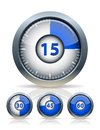 Set of timer clock vector illustration Royalty Free Stock Images