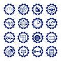 Set to auto logo, badge, emblem or logotype for mechanic, car re
