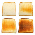 Set of toast Royalty Free Stock Photography