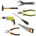 Set of tools for construction and repair.