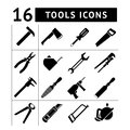 Set of tools icons Royalty Free Stock Photo