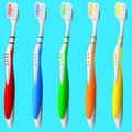Set of Toothbrushes Royalty Free Stock Images