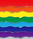 Set torn strips of paper elements for design seven colors of the rainbow vector illustration Royalty Free Stock Photo