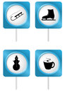 Set of tourism symbols Stock Photography