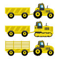 Set of tractors. Royalty Free Stock Photo