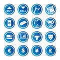Set trading icons on a white background Royalty Free Stock Photo