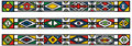 Set of traditional african ndebele patterns