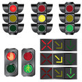 Set of traffic lights. Stock Images