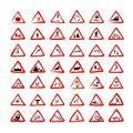 Set of traffic signs sketch for your design this is file eps format Stock Photography