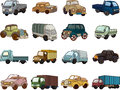 Set of trandport car icons cartoon vector illustration Stock Photos