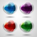 Set of translucent crystal ball vector illustration eps Stock Photo