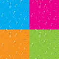 Set of transparent water drops vector seamless backgrounds Royalty Free Stock Photo