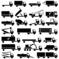 Set of transport icons Stock Images