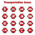 Set of Transportational Icons Royalty Free Stock Image