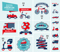 Set of travel banners cartoon illustration Royalty Free Stock Photography