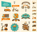 Set of travel banners cartoon illustration Royalty Free Stock Images