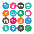 Set of Travel and Cruise icons. Royalty Free Stock Photo