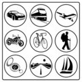 A set of travel icons Royalty Free Stock Photography