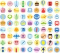 Set of travel icons. Royalty Free Stock Photo