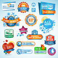 Set of travel labels and stickers Royalty Free Stock Images