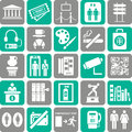 Set travel sightseeing entertainment icons Royalty Free Stock Photo