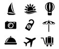 Set of travel and tourism icons Stock Image