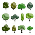 Set tree 免版税库存图片