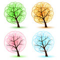Set Tree Royalty Free Stock Photos