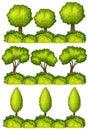 Set of tree lines