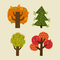 Set of trees illustration for design Royalty Free Stock Photography