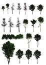A set of trees png and shrubs in the format Royalty Free Stock Image