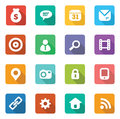 Set of trendy flat icons for web designers and mobile ui designers Royalty Free Stock Image