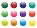 A set of twelve buttons Stock Images