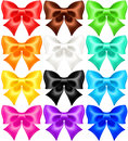Set of twelve festive bows vector illustration collection eps rgb created with gradient mesh Stock Photography