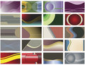 Set of twenty abstract vector backgrounds. Royalty Free Stock Image