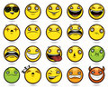 Set of twenty funny emoticons Stock Image