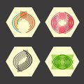 Set twirl elements of a simple design Royalty Free Stock Photo