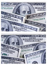A Set of Two 100 Dollar Bill Backgrounds Royalty Free Stock Images