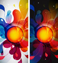 Set of two abstract mobile phone backgrounds Royalty Free Stock Photo