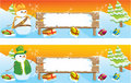 Set of two Christmas banners Stock Images
