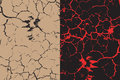 A Set Of Two Cracks Textures W...
